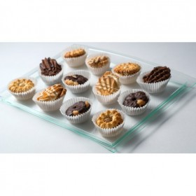 Arc transparent plastic tray for catering