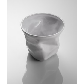 White small crumpled disposable cup