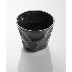 Black small crumpled disposable cup