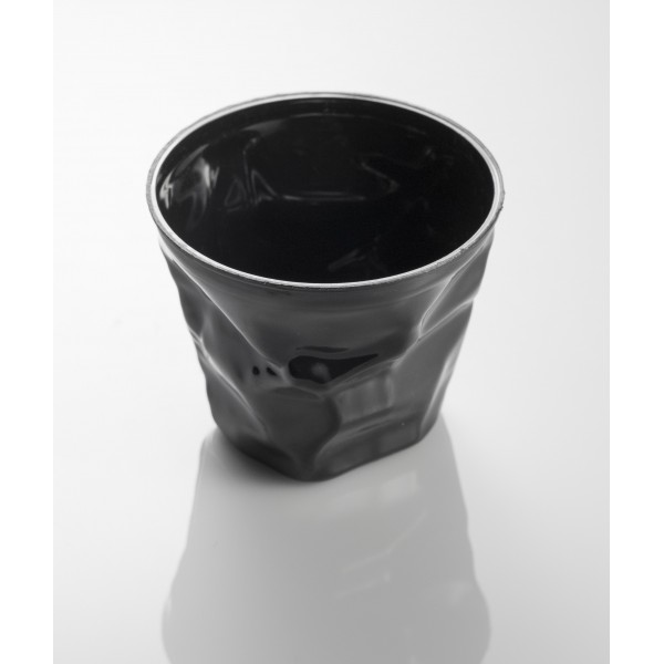 Black small crumpled disposable cup for Small plastic cups