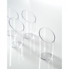 Trunqued glass for catering