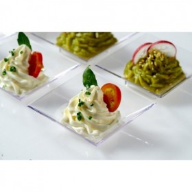 Mini plato de plástico para catering mini beat 60 ml