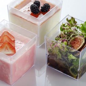 Tasting container for catering square koopa 500 ml