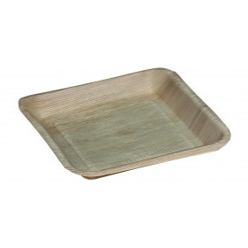 Plate square palm leaf