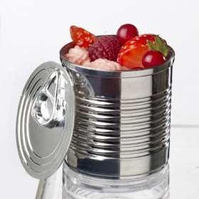 Argent plastic tin can 110 ml
