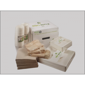 Kit vaixella Biodegradable per 50 persones