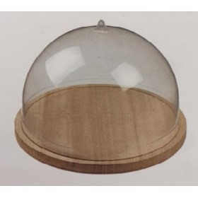 Plastic dome for wood tray