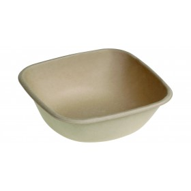 Bowl square natural of sugar cane 750 ml
