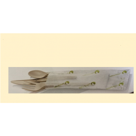 cutlery set CPLA beige (Knife, fork, palon)