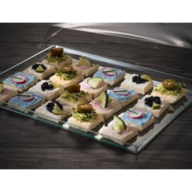 Large plastic tray for catering