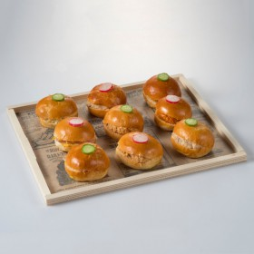 Wooden tray 265x175x10 mm Plateau Repas