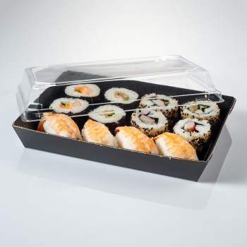 Sushi tray with lid included 180x130x30 m