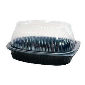 Black chicken PP tray (lid included)