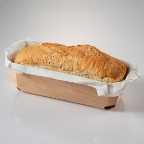 Rectangular wooden platesuitable for oven 250x115x75 mm