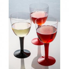 Wine Cup PS Black Base 320 ml.